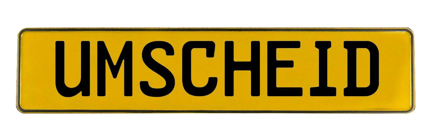 Vintage Parts 784409 Wall Art Yoest Yellow Stamped Aluminum Street Sign Mancave