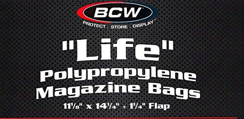 25 LIFE Magazine Poly Bags and Backing Boards