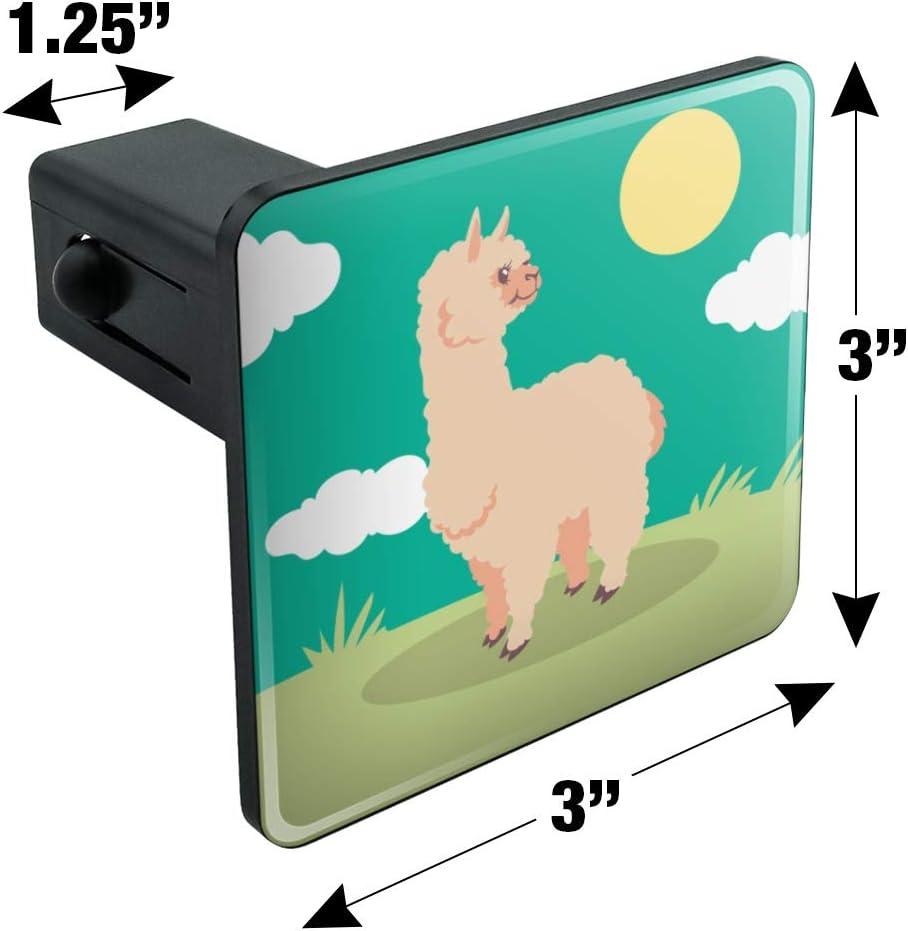 Cute and Fluffy Alpaca Tow Trailer Hitch Cover Plug Insert