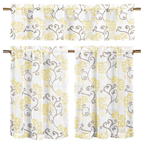 Bathroom and More Collection Yellow, Taupe and Off-White 3-P