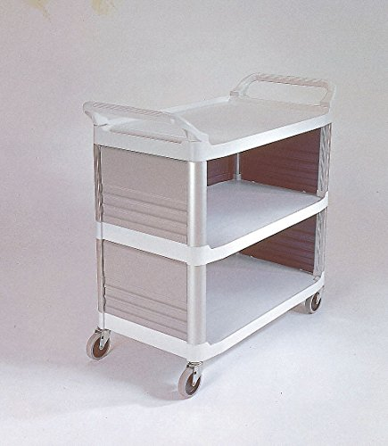 Enclosed Utility Cart - 1139688 Cart Utility Enclosed 3Sides Off-White Ea Rubbermaid -FG409300OWHT