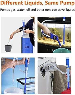Bomba de combustible el/éctrica bomba el/éctrica para peces cambiador de agua de acuarios bomba de aceite bomba de bid/ón bomba de combustible bomba de agua de Kasit