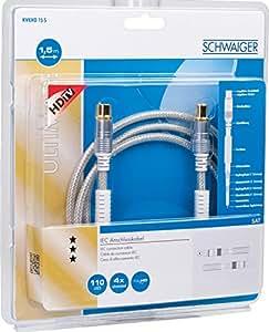 Schwaiger IEC Cable blanco