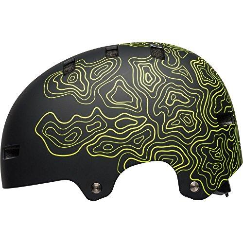 Bell Local Adult BMX & Skate Helmet (Matte Black/Retina Sear Midtown (2018), Small) ()