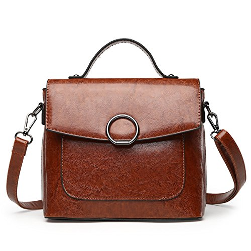 Bag Purse Kanodan Shoulder Bag Brown Girls Women PU Cross Leather Body wwIqROC