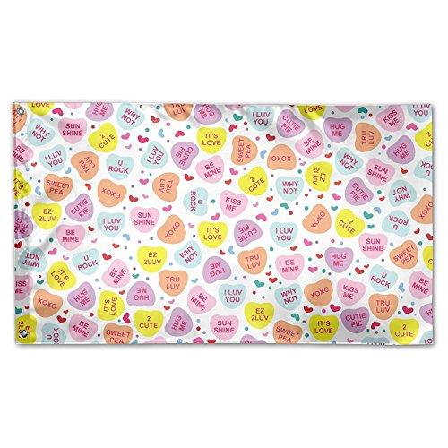 YUANSHAN Home Garden Flag Heart Love Candy Polyester Flag In