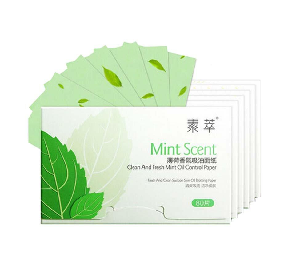 Set of 6 Oil Control Paper Men/Women Oil Blotting Paper(680 sheets),Mint