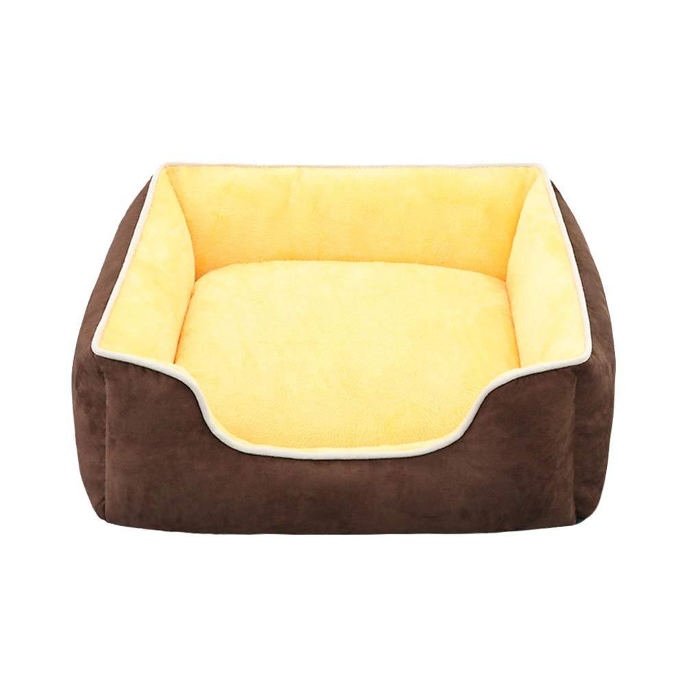 と冬の犬小屋、犬用の取り外し可能で洗える屋内用の大および中型の犬用ペットマットレス、5kg未満のペットに適しています (色 : Brown) B07P4YYHGS Brown