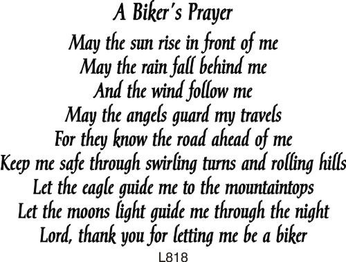 Biker's Prayer Rubber Stamp By DRS Designs