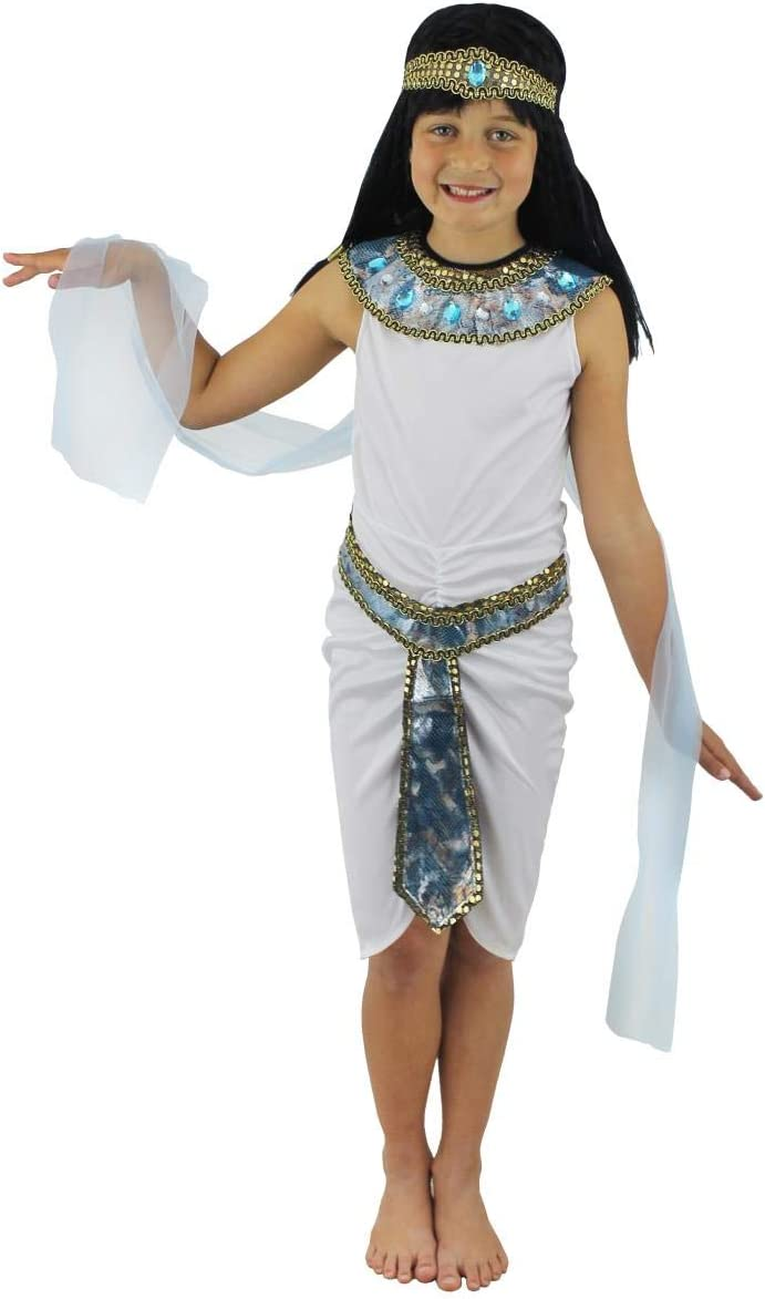 Childs Kids Girls Egyptian Cleopatra Costume Age 5 6 7 Years