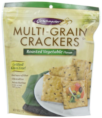 Crunchmaster Gluten Free Crackers, Vegetable Flavor, 4.5-Ounce (Pack of 4) ()