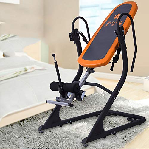 ZUZEN Luxury Inverted Machine Strength Training Inverted Equipment Inversion Table of Back Pain Inverter Equipment Fitness Decompression Cervical Low Back ()