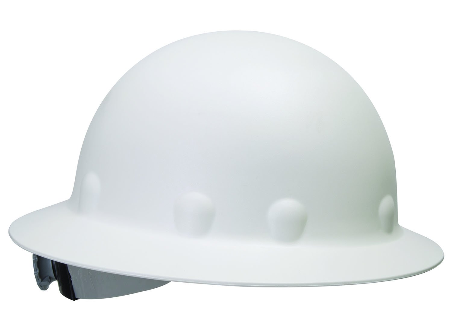 Fibre-Metal by Honeywell P1ARW01A000 Roughneck Full Brim Hard Hat with Strip-Proof and Crack-Proof Ratchet Headgear, White