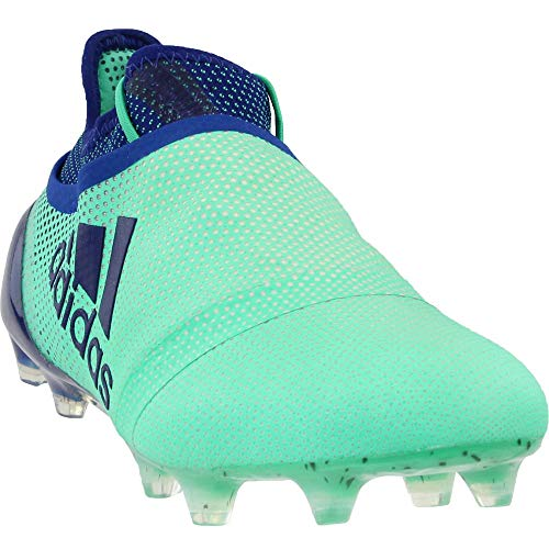 adidas Mens X 17+ Purespeed Firm Ground Soccer Athletic Cleats, Green, 10.5