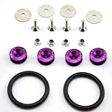 Amooca Purple Finish JDM Quick Release Fasteners For Car Bumpers Trunk Fender Hatch Lids Kit