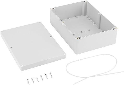Caja de conexiones a prueba de agua, caja de conexión de cableado de plástico blanco, caja de conexión, caja de conexiones 263 * 185 * 95 mm: Amazon.es: Bricolaje y herramientas