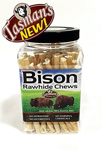 Tasman's Natural Pet Small Bison Twisters 75 pack Jar ()