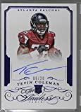 coleman 2015 - Tevin Coleman #6/20 (Football Card) 2015 Panini Flawless - Rookie Autographs - Blue #RA-TC