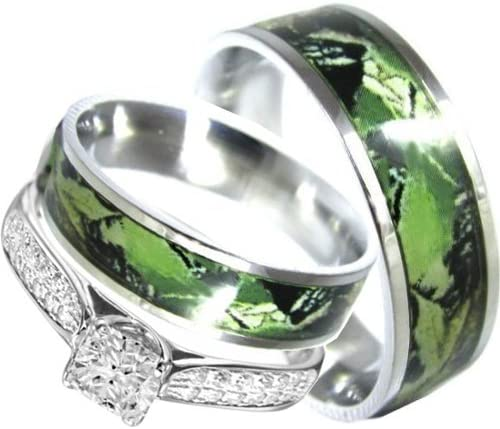 Amazon Com His And Hers Camo 3pc Matching Stainless Steel