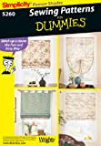 roman shade pattern Simplicity Sewing Pattern 5260 Home Decorating, One Size