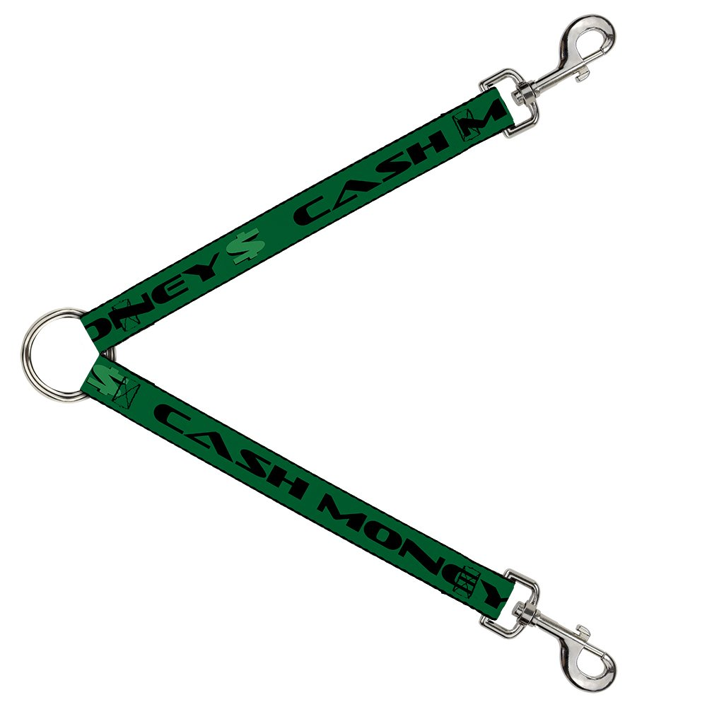 Buckle-Down DLS-W32941 Cash Money   Green Black Leash Splitter, 1  Wide 30  Length