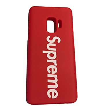on sale e8f41 628fe S9 and S9+, Supreme Fashion Red Box Case For Samsung S9 and S9+ Plus ...