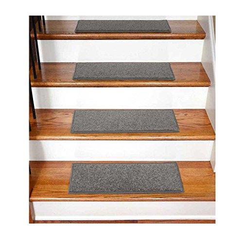 StepBasic Non-Slip Rubber Backing Resistant Carpet Stair Gripper Set of 7 - Gray ( 8.5