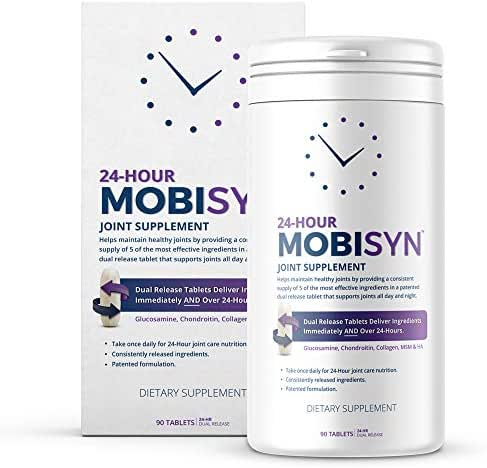 Joint Support Supplement, Supports Muscle Pain, Mobility, Soreness and Inflammation for 24 hours. Glucosamine, Chondroitin Sulfate, MSM, Hyaluronic Acid and Collagen Type II, 90 Tablets