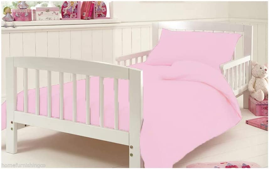 Flannelette Duvet Covet Set for Cot Bed Thermal Toddler Baby Bed 100/% Egyptian Cotton Bedding 120 x 140 cm Approximately Black