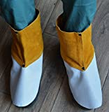 ZaoProteks ZP3002 Cowhide Leather Heat and Abrasion Resistant Welding Spats, Shoe/Boot Protectors ,Boot /Shoe Cover