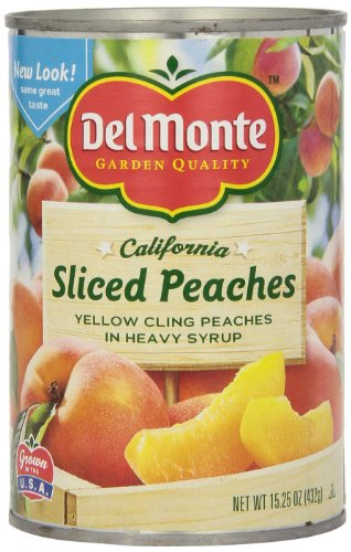 - Del Monte Sliced Peaches Yellow Cling Peaches in Heavy Syrup, 15.25-Ounce (Pack of 8)