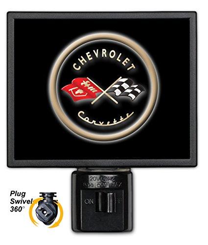 Art Plates GM-135-NL Corvette Black Logo Night Light