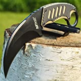 8″ TACTICAL COMBAT G'Store Karambit Claw G10 FIXED BLADE KNIFE Army Hawkbill w/ SHEATH