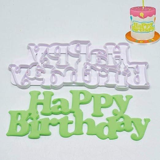 Decoración de pasteles Cortador Molde Plástico Letras de ...