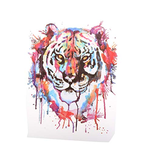(Iron On - 1pc Washable Tiger Patches Iron On Transfers Patch Stickers Print T Shirt Dresses - Sweaters Patches Mario Signs Tape Queen Labels Pattern Glitter Fabric Your Pockets Shower White Ros)