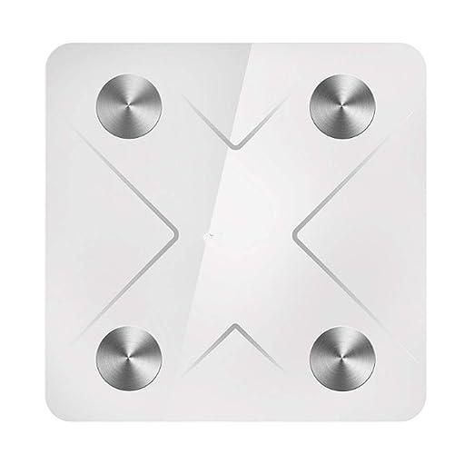 Bluetooth Peso Corporal Digital Báscula de baño Grasa Grande ...