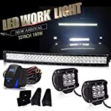 85 chevy caprice grill - DOT Approved 32Inch Curved LED Light Bar 180W Bumper Grill Off Road Light+18W Cube Light w/Wiring Harness For Polaris RZR Toyota Tacoma GMC UTV ATV 4WD Jeep Truck Tractor Pickup Camper Boat Trailer