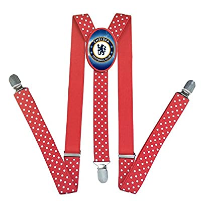 Mersaly Custom Chelsea Football Club Suspenders For Kids Y-Back Adjustable Suspender