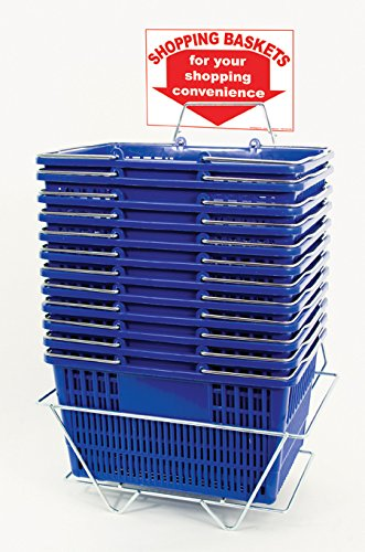 12 Basket Set Custom Shopping Baskets Blue Jumbo-size, Heavyduty, Grocery Basket by Jumbo basket