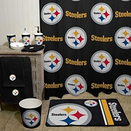 Pittsburgh Steelers Bathroom Set. Nfl Pittsburgh Steelers Decorative Bath Collection Shower Curtain