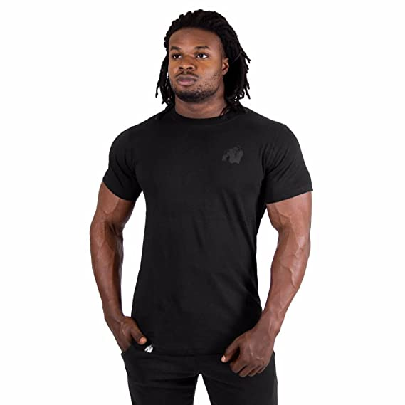 Gorilla Wear Athlete T-Shirt Black//White Bodybuilding Fitness m-4xl