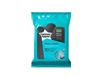 Amazon.com: Tommee Tippee Closer to Nature Chupete Wipes, 30 ...