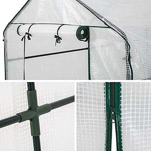 温室 GZHENH 植物の温室温室の中を歩く 大容量 安定した温室フレーム 防水 防錆 折りたたみ式 アンチUV トマト温室 (Color : 2pcs, Size : 143x73x195cm)