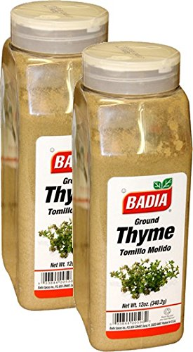 Badia Thyme Leaves Ground 12 oz Pack of 2
