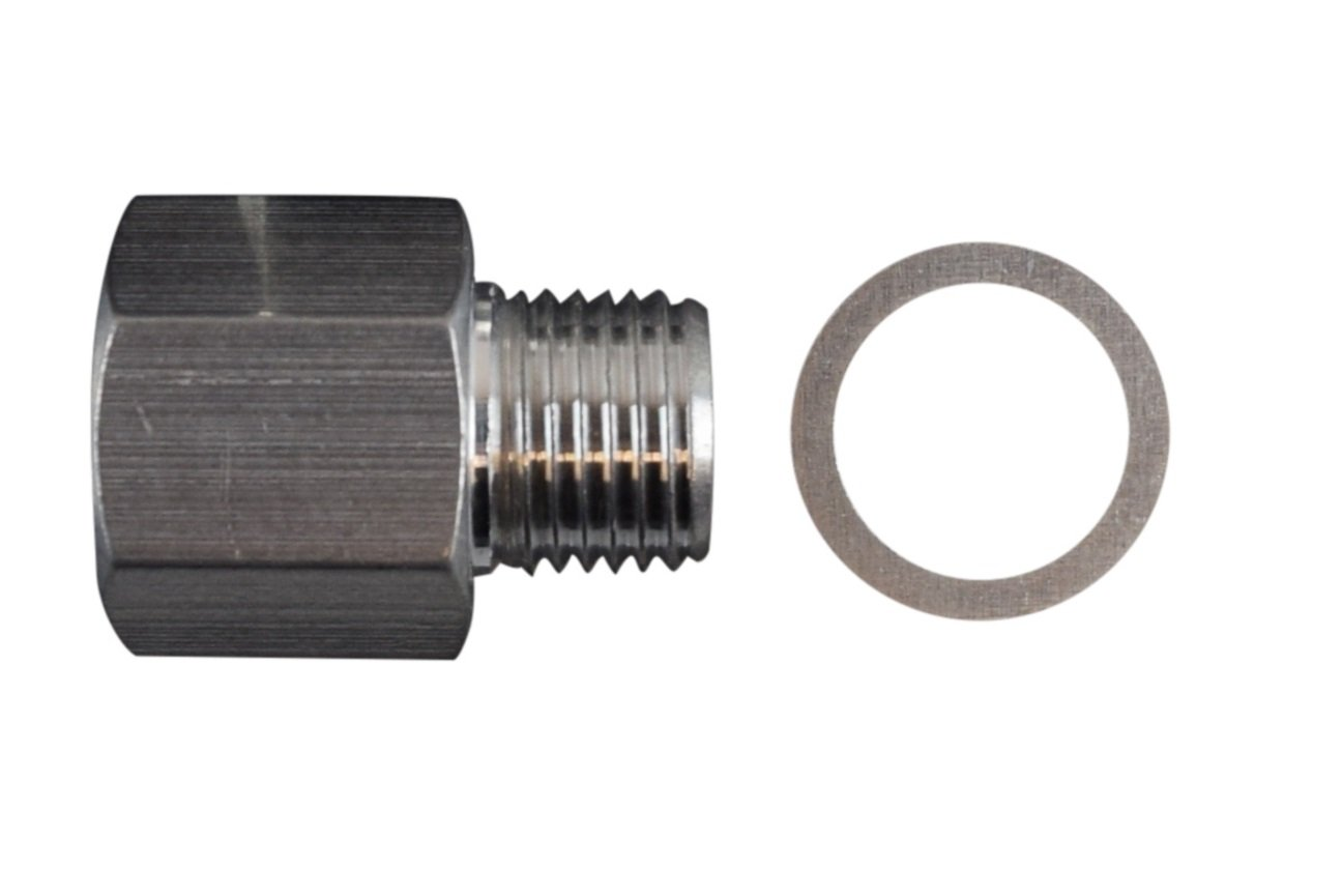 LS Oil Pressure Sensor Adapter M16X1/8 NPT Turbo Feed Port Gauge Adapter 5.3 6.0, OPSA125SS LSX Super Store