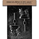 Dress My Cupcake DMCDOG021SET Chocolate Candy Mold, Samoyed Lollipop Dog, Set of 6