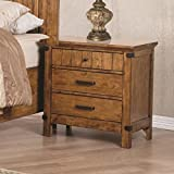 Cheap Coaster 205262-CO Brenner 3 Drawer Nightstand, Natural Honey