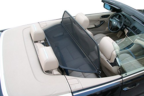 Aperta Black winddeflector for BMW 3 Series E46 | Tailor Made Windblocker | Windstopper BMW Convertible