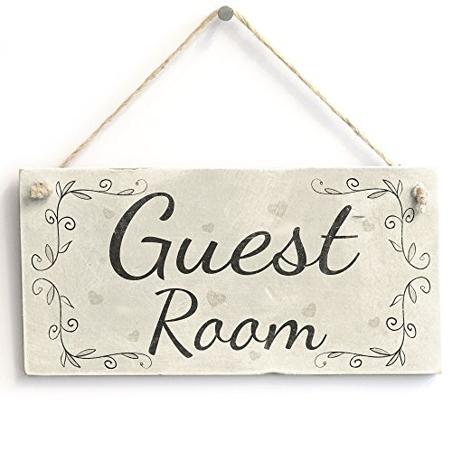 Guest Room - Handmade Vintage Style Wooden Door Sign/Plaque Bedroom