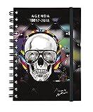 Exacompta Visual 12x 17cm skulltissime Diary Daily Academic August 2017in July 2018Headset (Black)